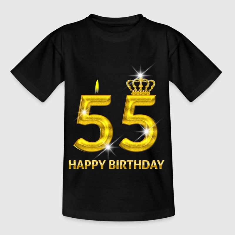 55 - happy birthday - birthday - number gold Shirts - Teenage T-shirt