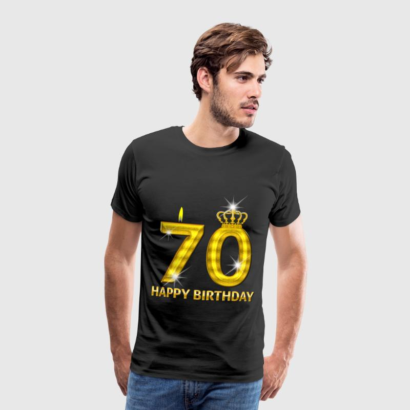 70 - happy birthday - birthday - number gold T-Shirts - Men's Premium T-Shirt