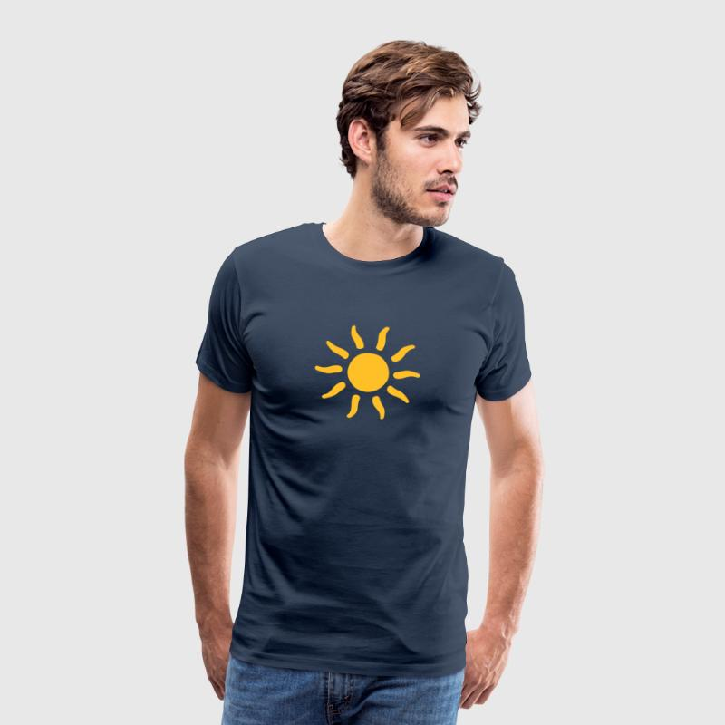 sun sunshine symbols shapes T-Shirts - Men's Premium T-Shirt
