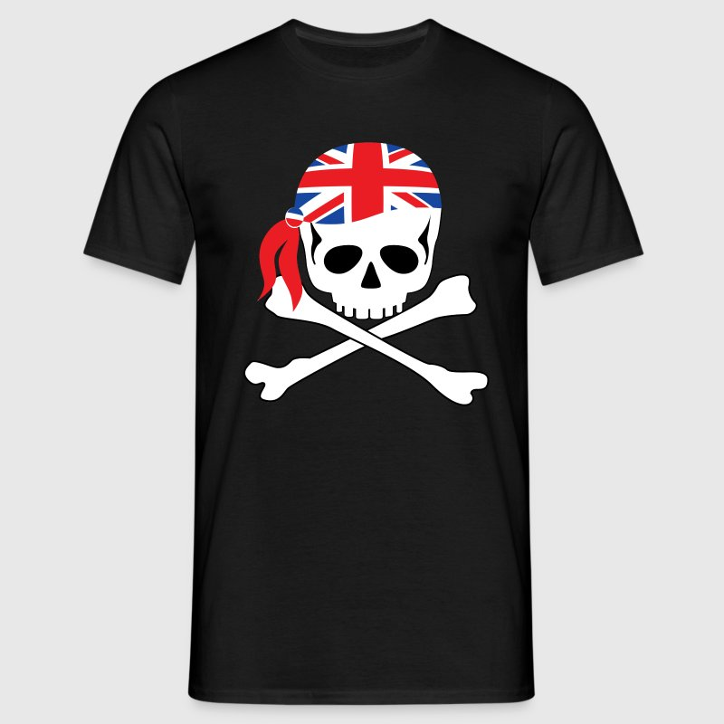 Black British Pirate Men's T-Shirts - Men's T-Shirt
