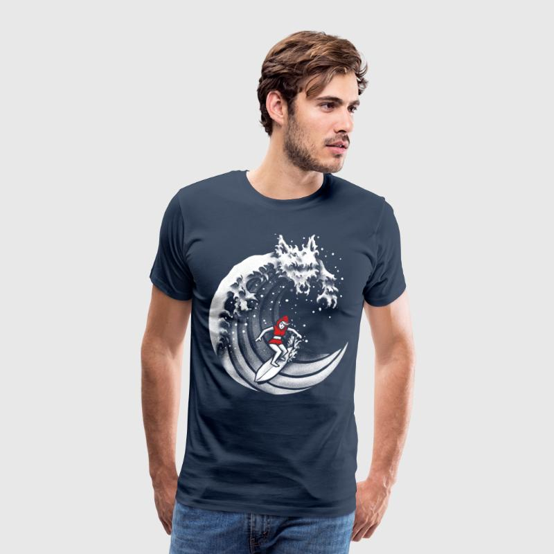 Navy Little Red Surfing Hood T-Shirts - Männer Premium T-Shirt