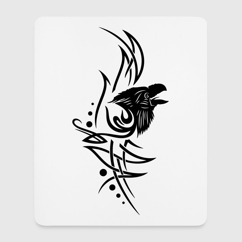 Tribal, Tattoo mit Rabe - Mousepad (Hochformat)