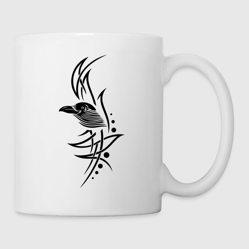 kr he crow tribal tattoo tasse spreadshirt. Black Bedroom Furniture Sets. Home Design Ideas