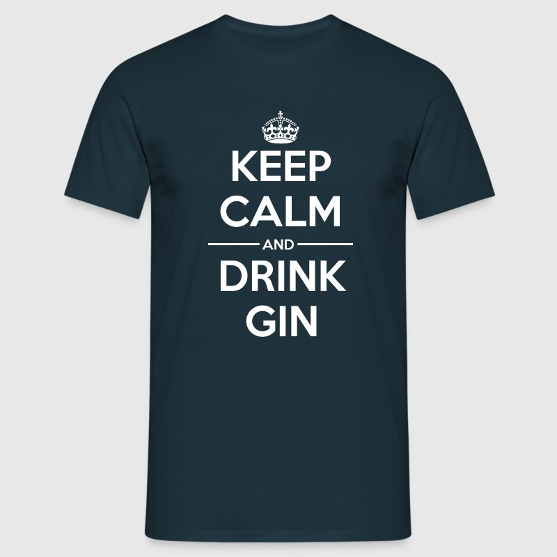 Drinks Keep calm Gin T-Shirts - Men's T-Shirt