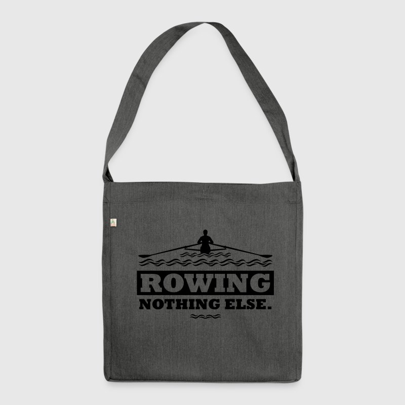 rowing nothing else Rudern Skull Boot Skiff Bags & Backpacks - Shoulder Bag made from recycled material