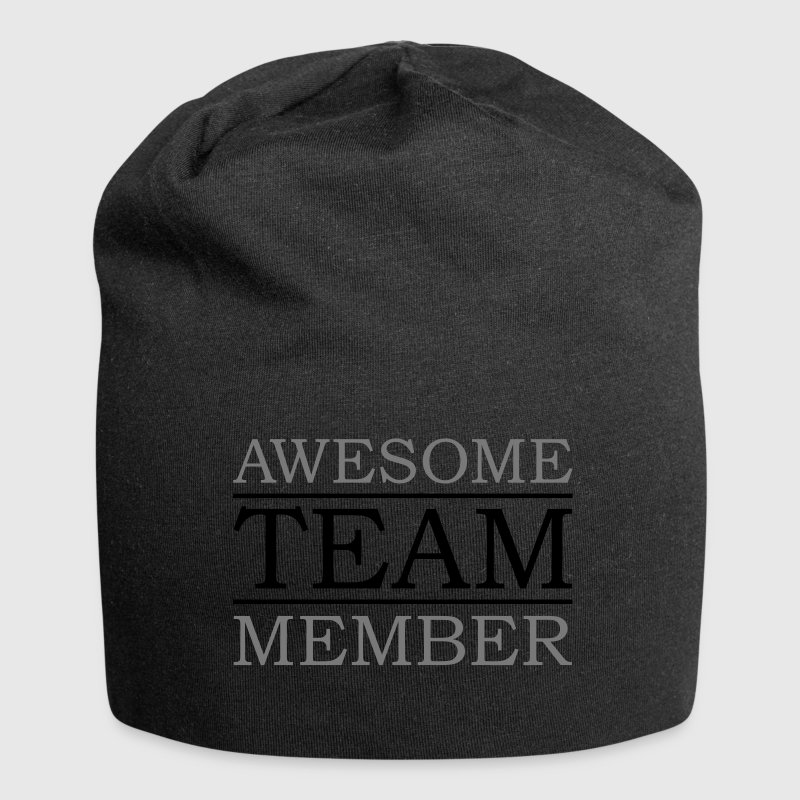 awesome team member award best friend man family Caps & Hats - Jersey Beanie