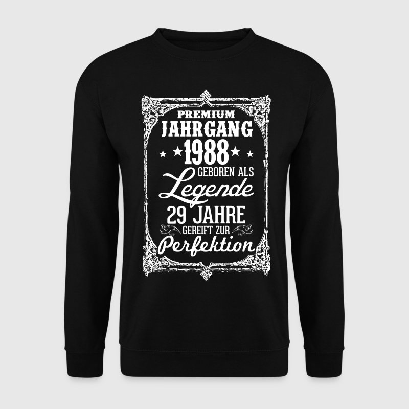 29-1988-légende - perfection - 2017 - DE Sweat-shirts - Sweat-shirt Homme