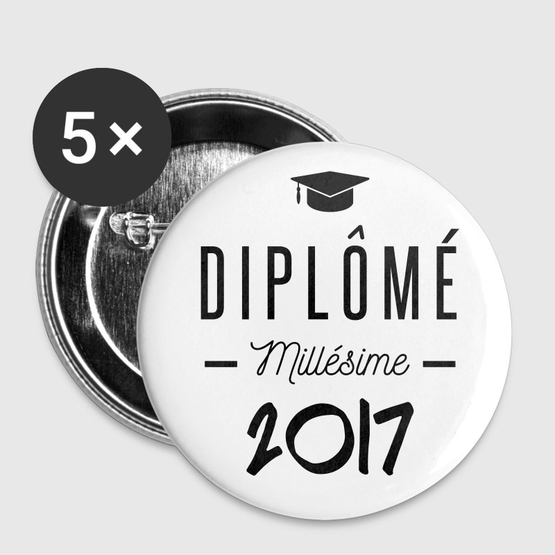 diplomé millésime 2017 Badges - Badge grand 56 mm