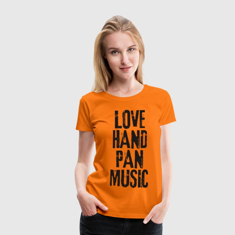 LOVE HANDPAN MUSIC - black - Frauen Premium T-Shirt