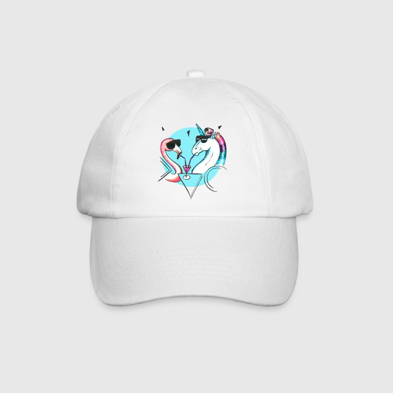 Cool flamingo and unicorn Caps & Hats - Baseball Cap