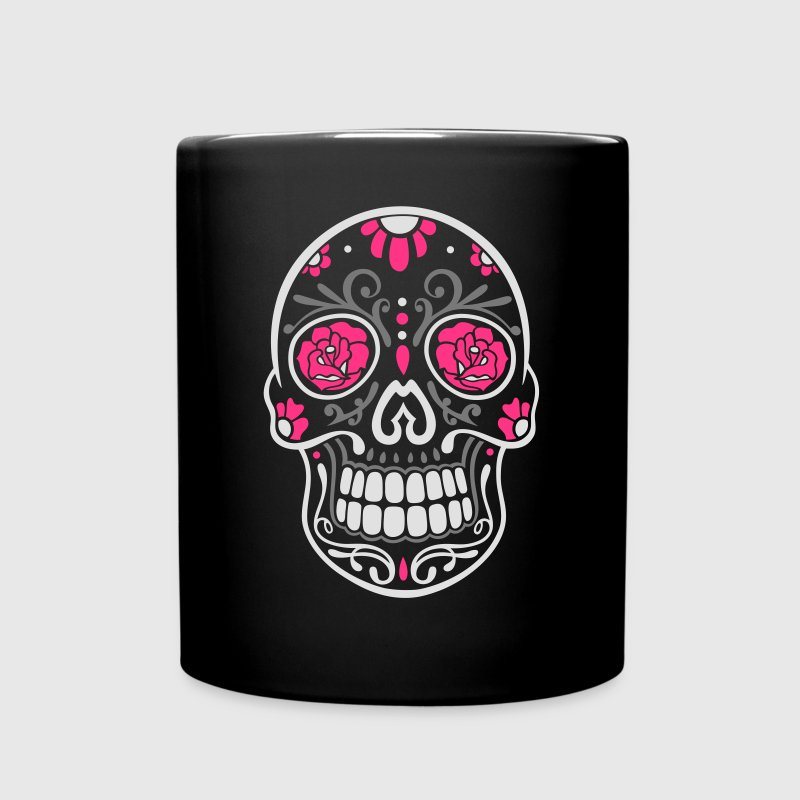 traditional mexican sugar skull day of the dead mug