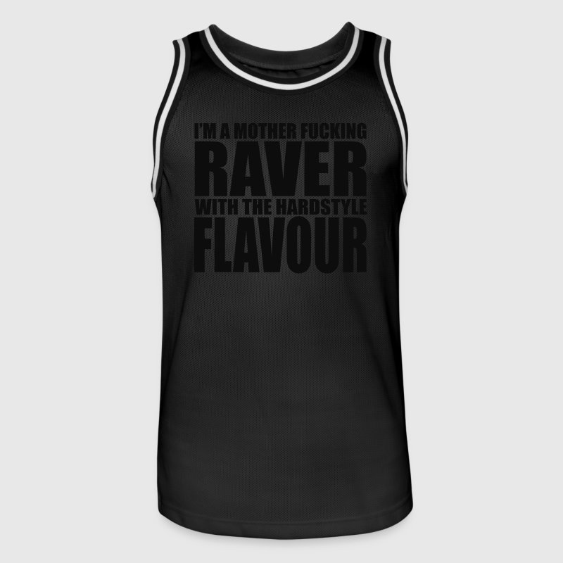 Mother F*cking Raver EDM Quote Sports wear - Men's Basketball Jersey