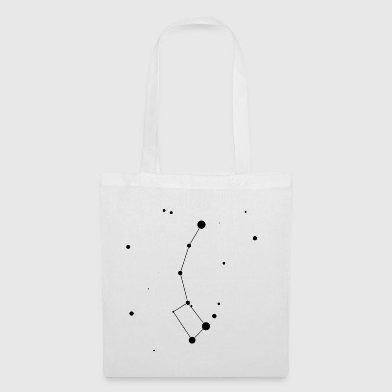 White Ursa Minor Constellation Bags  - Tote Bag
