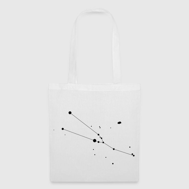 White Taurus Constellation Bags  - Tote Bag