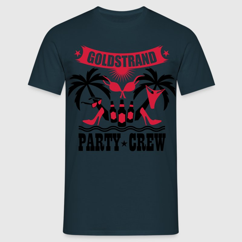 17 Goldstrand Party Crew Insel Palmen Sex Fun T-Sh - Männer T-Shirt