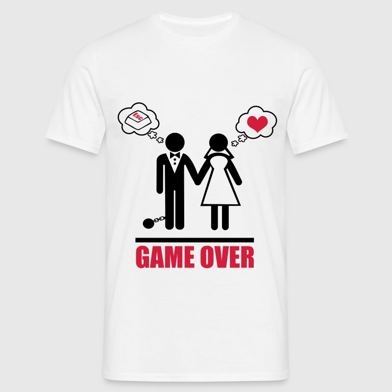 Game over,Stag Do,stag,stag night,bachelor,party - Men's T-Shirt