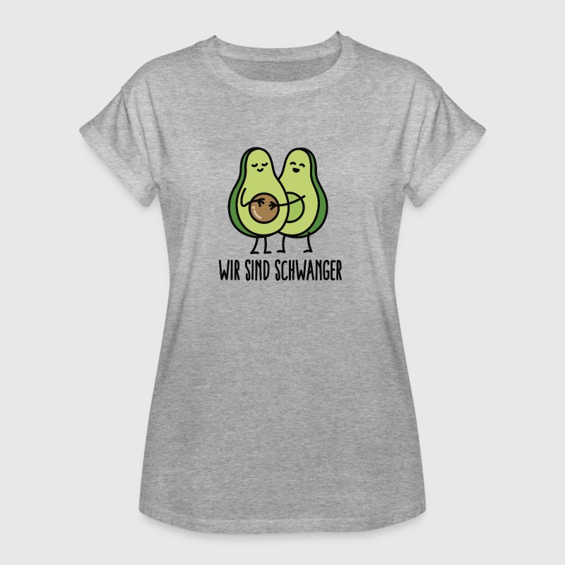 wir sind schwanger avocado frauen oversize t shirt. Black Bedroom Furniture Sets. Home Design Ideas