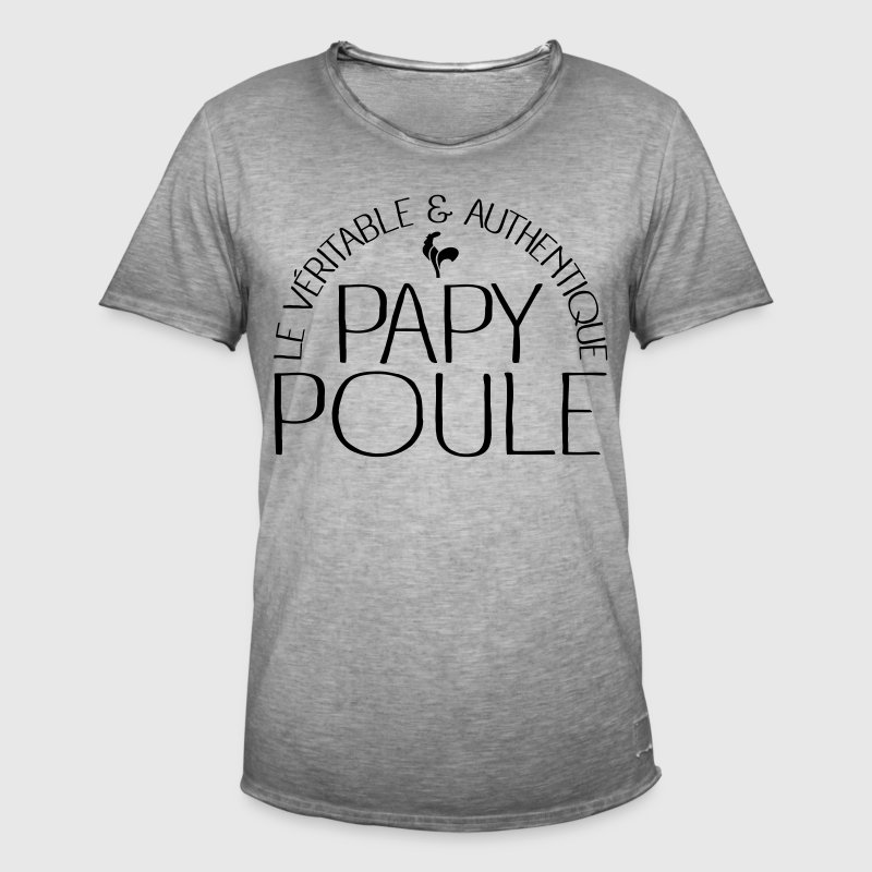 Papy Poule Tee shirts - T-shirt vintage Homme