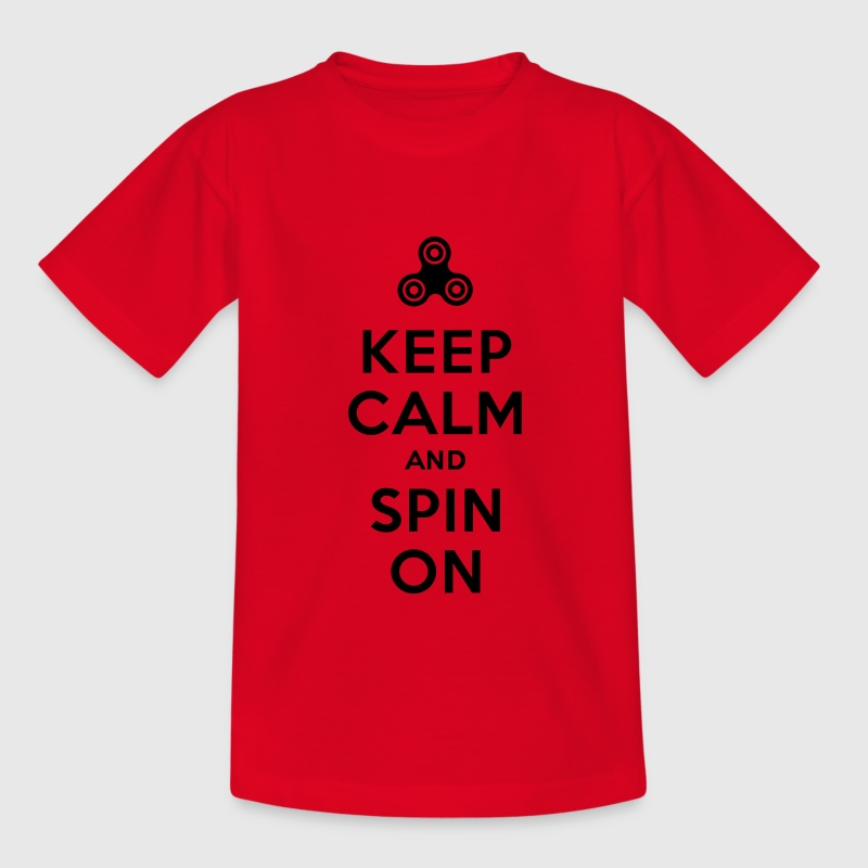Keep calm and spin on - Fidget Spinner Shirts - Kids' T-Shirt
