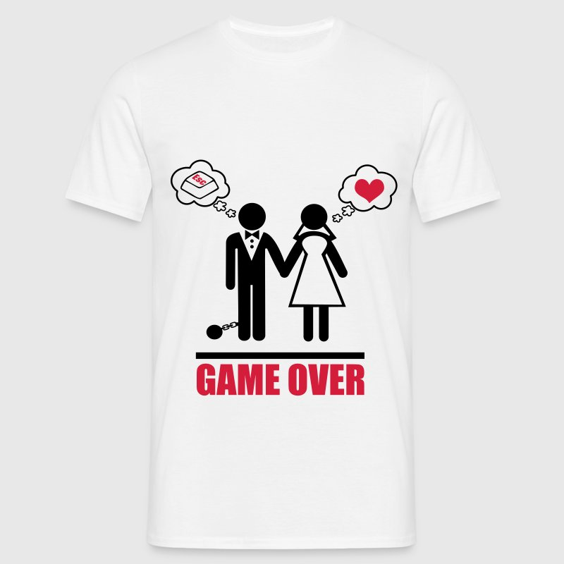 Game over,couples, Stag Do,stag,stag night - Men's T-Shirt