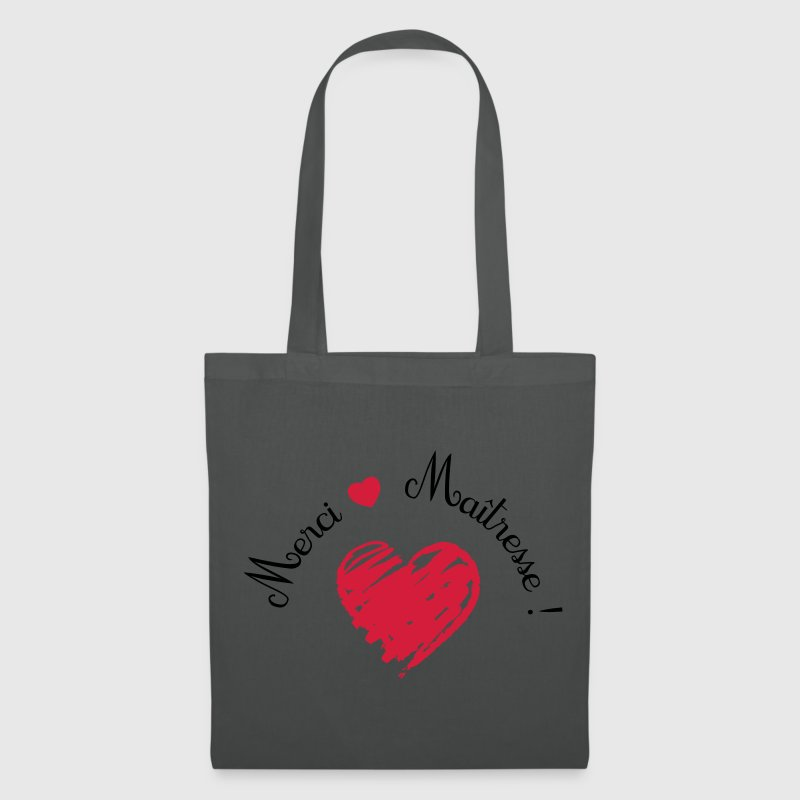 tote bag merci ma tresse coeur cadeau de fin d 39 ann e spreadshirt. Black Bedroom Furniture Sets. Home Design Ideas