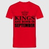 kings are born in september Tee shirts - T-shirt Homme