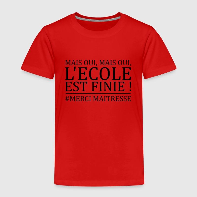 Tee shirt mais oui mais oui l 39 cole est finie spreadshirt for L ecole des femmes oui non white t shirt