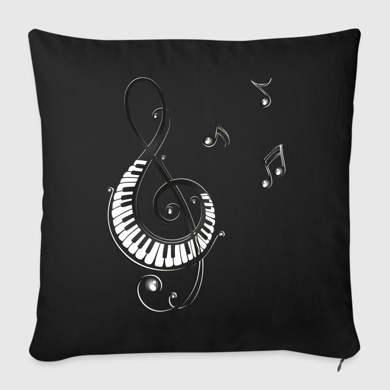 Copricuscino per divano con chiave con tasti di pianoforte - Copricuscino per divano ...