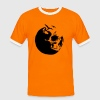 Orange/black killing moon skull mond Men's T-Shirts - Men's Ringer Shirt