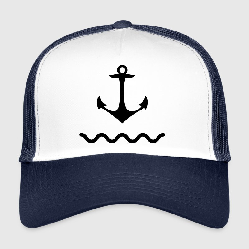 Anchor shaft water sea Kaptän port coastal ship Caps & Hats - Trucker Cap
