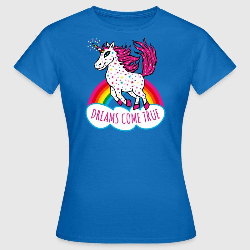 07 einhorn regenbogen dreams come true sternchen t shirt. Black Bedroom Furniture Sets. Home Design Ideas