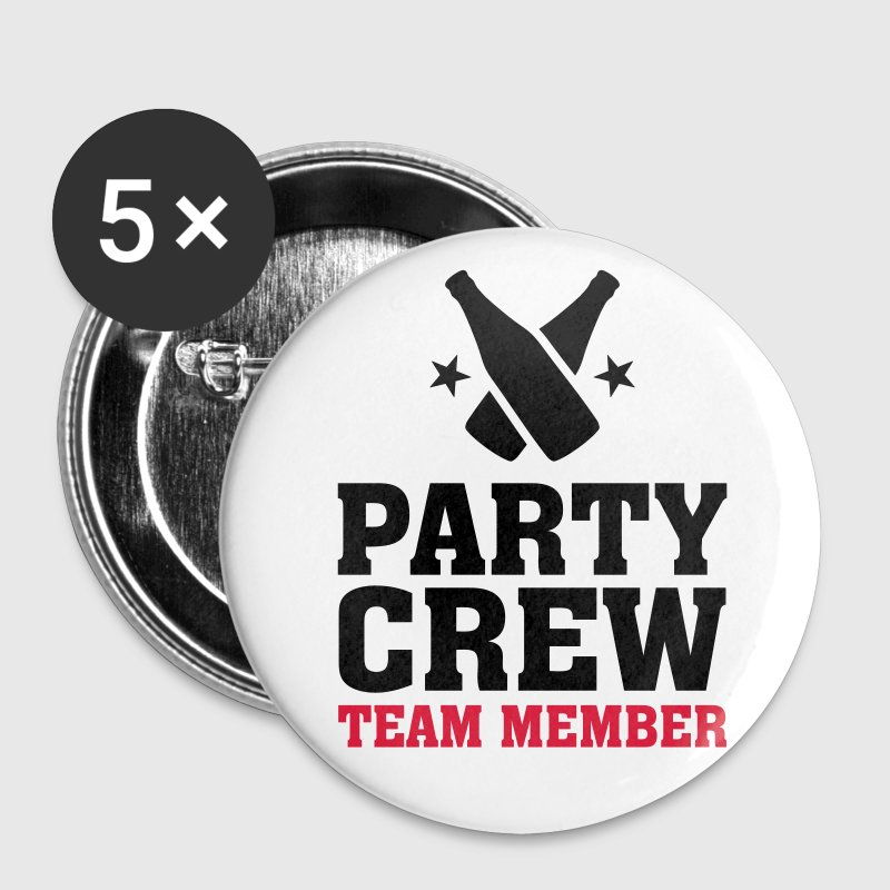 Party Crew Team Member partys birthday jubilee Buttons - Buttons small 25 mm