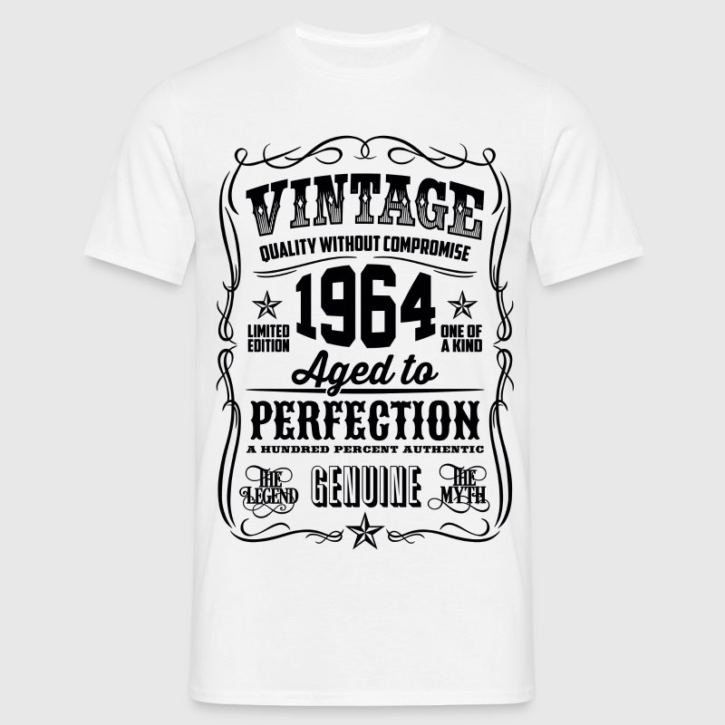 1964 Aged to Perfection Black print - Men's T-Shirt