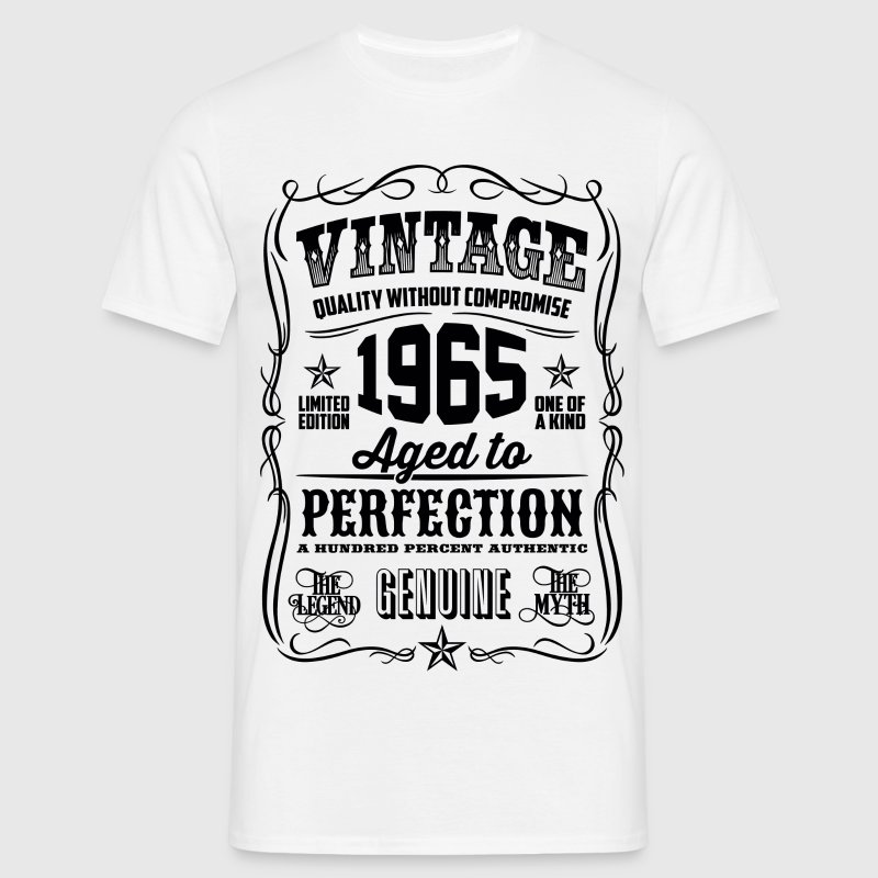1965 Aged to Perfection Black print - Men's T-Shirt