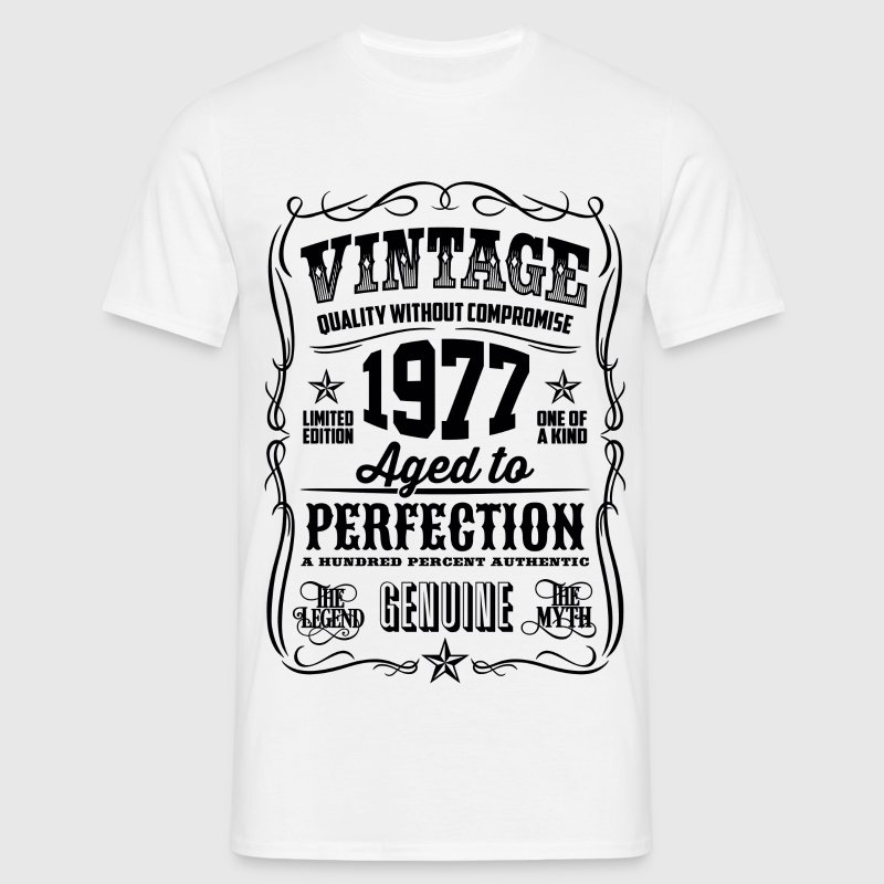 1977 Aged to Perfection Black print - Men's T-Shirt