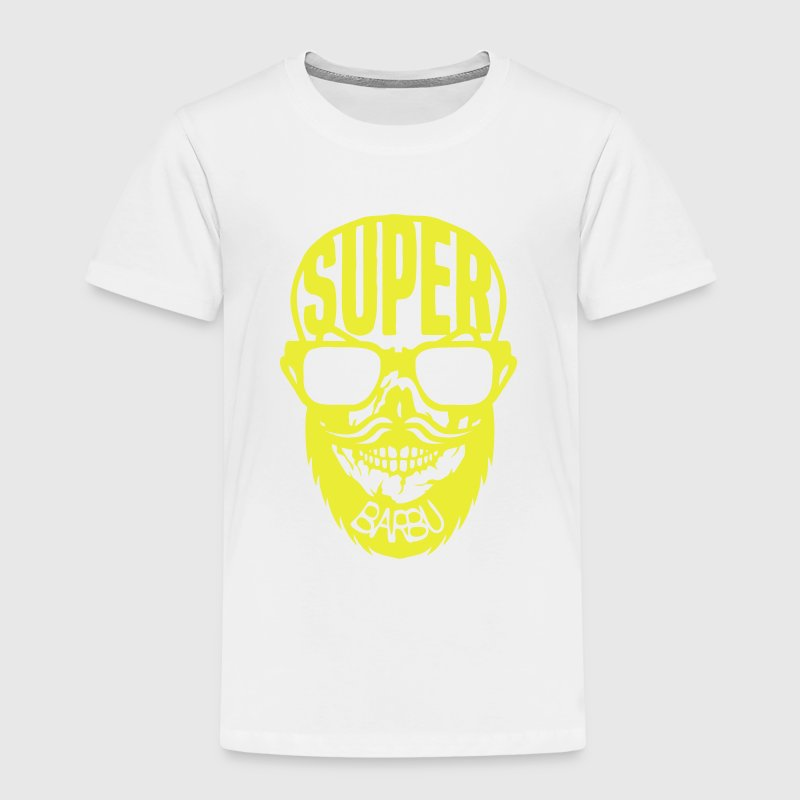 super barbu citation tete mort moustache Tee shirts - T-shirt Premium Enfant
