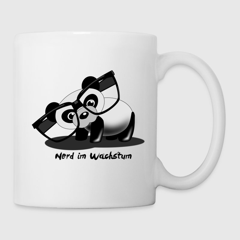 panda nerd tasse spreadshirt. Black Bedroom Furniture Sets. Home Design Ideas