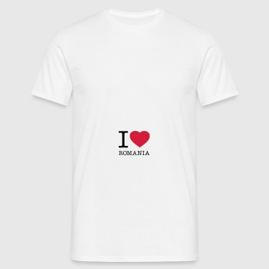 I LOVE ROMANIA - Men's T-Shirt