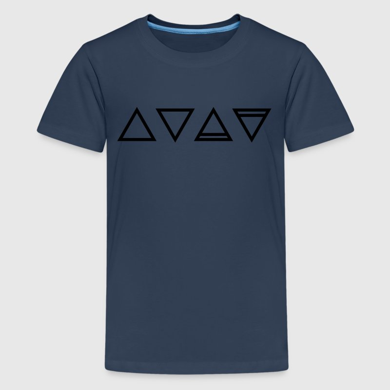 Elementer, symboler, trekant, magic, okkult Hermetics T-shirts - Teenager premium T-shirt