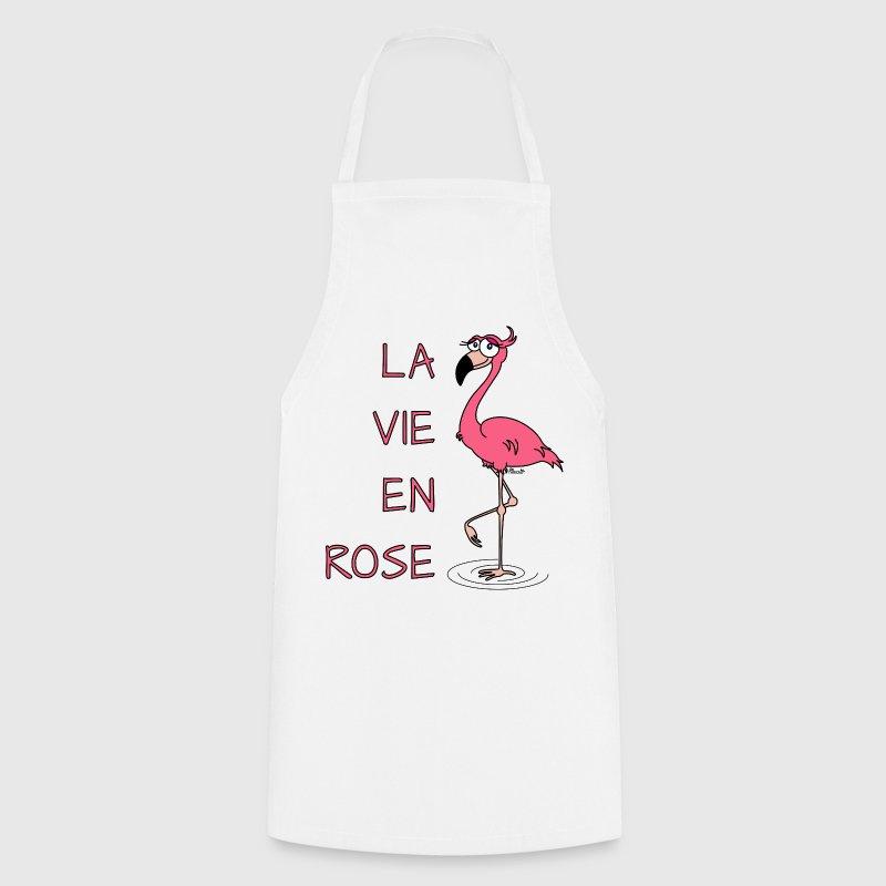 tablier flamant rose la vie en rose spreadshirt. Black Bedroom Furniture Sets. Home Design Ideas