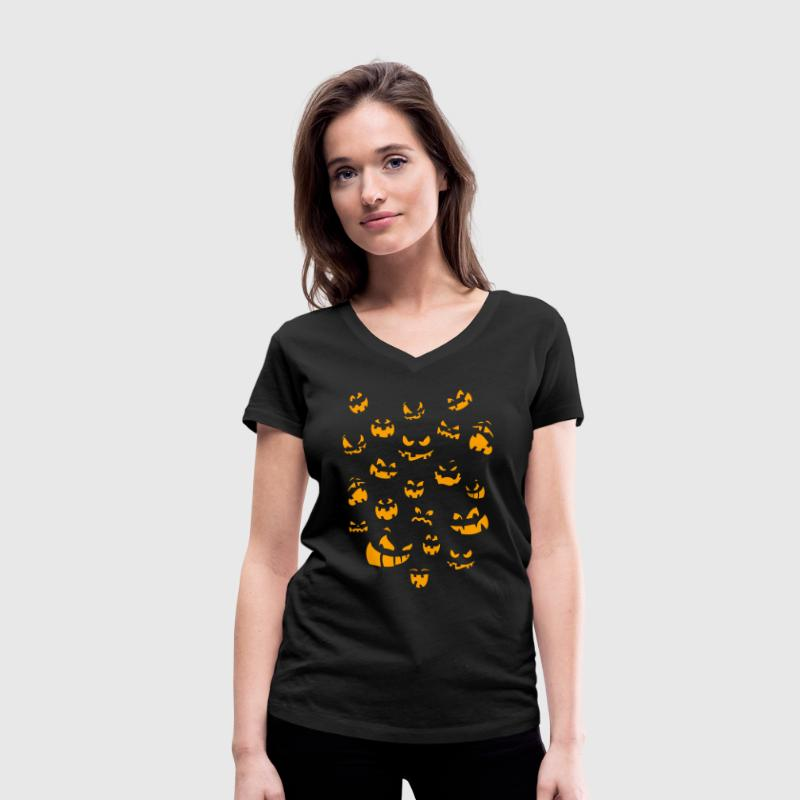 Halloween costume T-Shirts - Women's Organic V-Neck T-Shirt by Stanley & Stella
