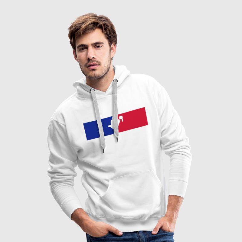 logo france sexe couple amour position  Sweat-shirts - Sweat-shirt à capuche Premium pour hommes