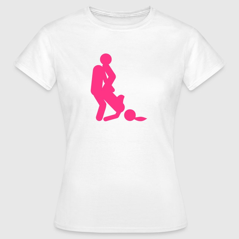 sexe position amour icone couple  2404) Tee shirts - T-shirt Femme