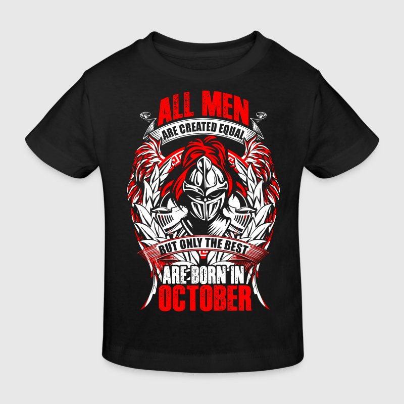 October - All men are created equal - EN T-shirts - Organic børne shirt