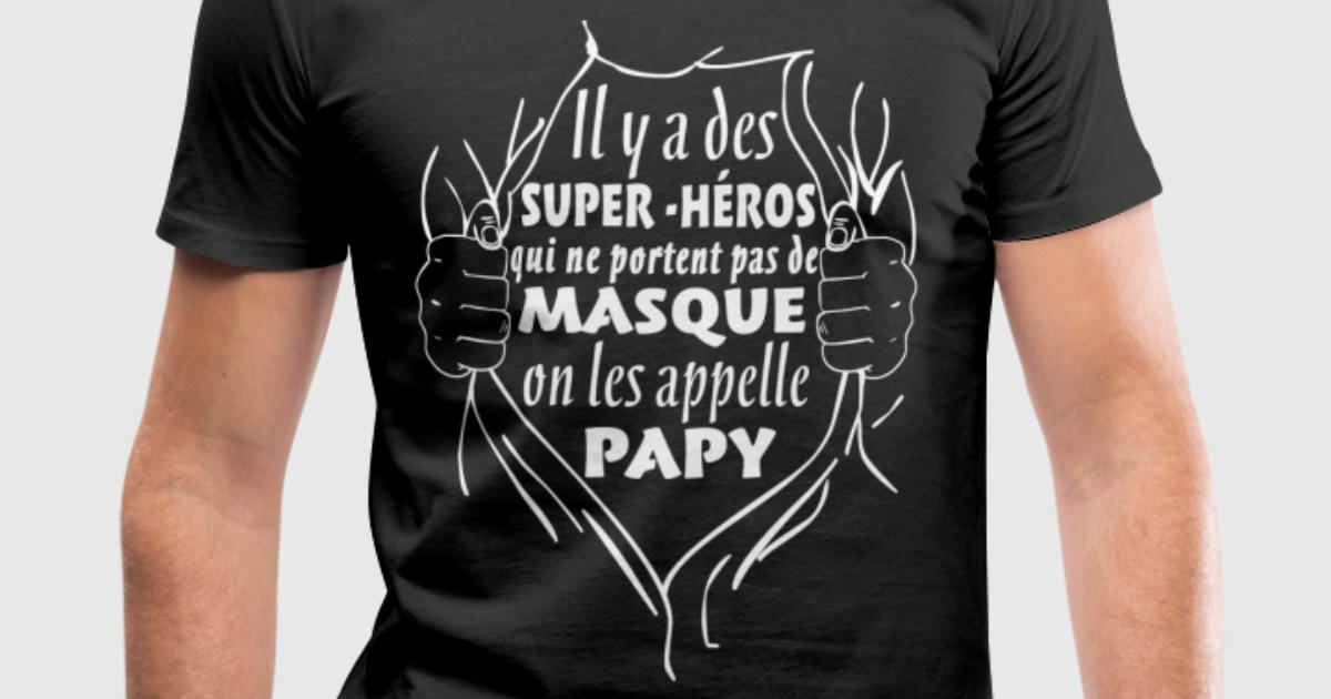 T shirt papy super h ro spreadshirt for Two color shirt design