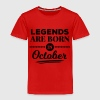 legends are born in october birthday October  Shirts - Kids' Premium T-Shirt