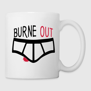 burne out burnout slip citation couille Tabliers - Mug blanc