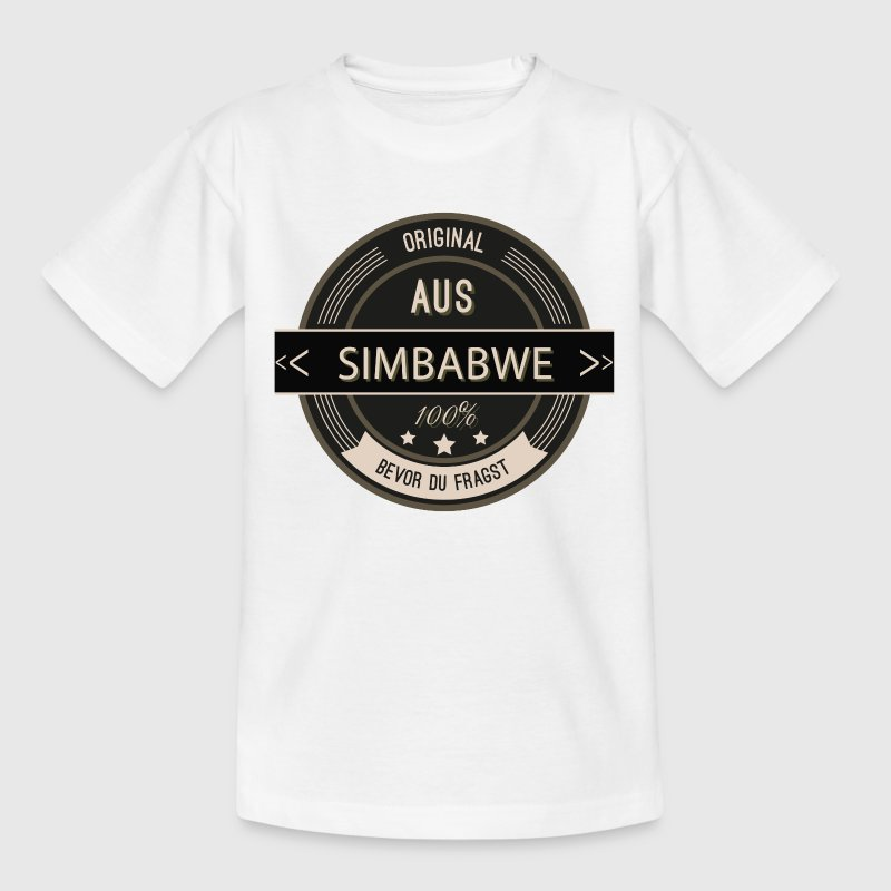 Original aus Simbabwe 100% T-Shirts - Teenager T-Shirt