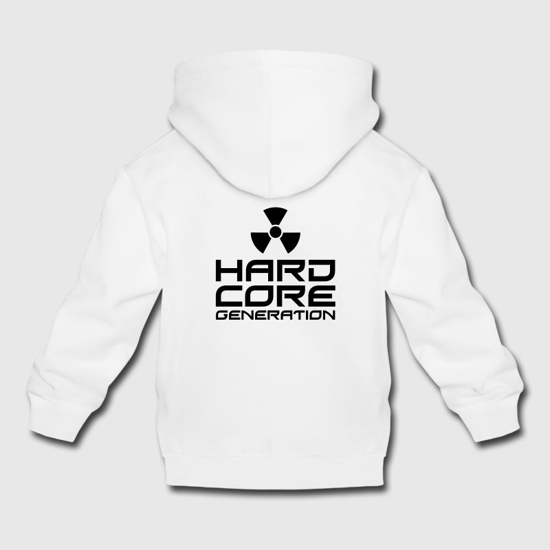 Gris clair chiné Hardcore Generation III Radio Active FR Sweats Enfants - Pull à capuche Premium Enfant