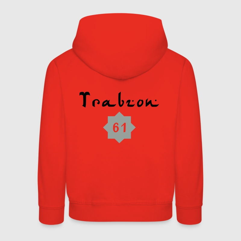 Rot Trabzon 61 STAR Kinder Pullover - Kinder Premium Hoodie